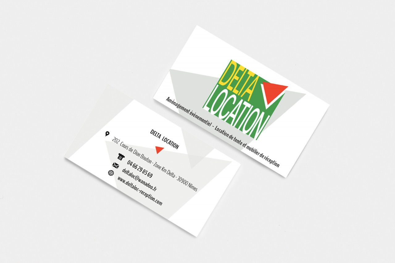 Cartes De Visite Delta Location Nimes